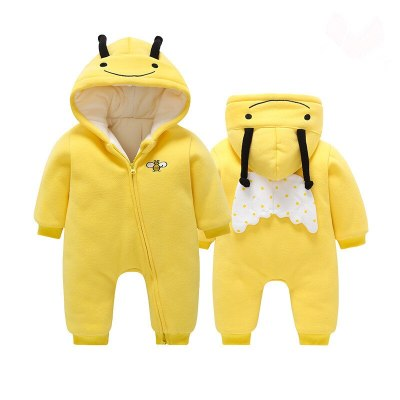 Baby boy clothes cartoon sika deer jumpsuit robe with zipper newborn clothes baby crawlerjumpsuit