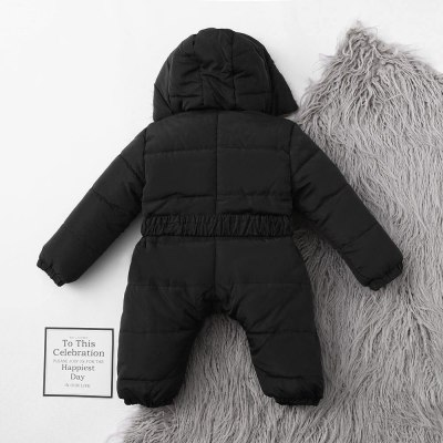 Baby Rompers Boys Girls Clothes Warm Fleece Fur Collar Jackets Jumpsuit Overalls For Newborn Hooded Full Sleeve Baby Clothing