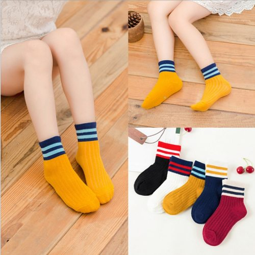5 Pairs Baby Boys Winter Socks Cartoon Bear Kids Spring Autumn Cotton Breathable Keep Warm Floor Anti-skid Girls Socks
