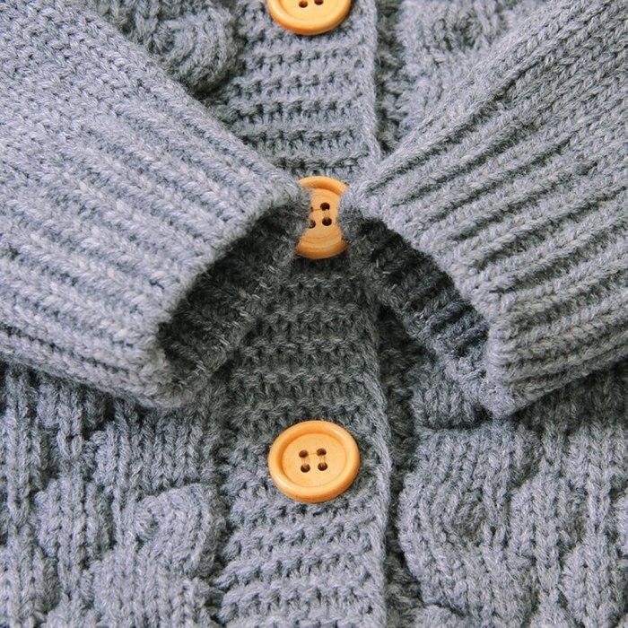 Newborn Infant Baby Girl Boy Romper Jumpsuit Autumn Winter Warm Coat Hooded Knit Jacket For Baby Coat