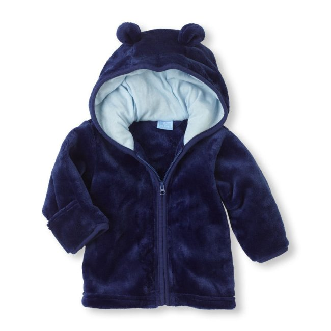 Hot New  Baby Super Adorable Coral Fleece Hoodie Infant 3 Color Baby Outerwear 0-12 Months for Boys and Girls 0-12M baby coat