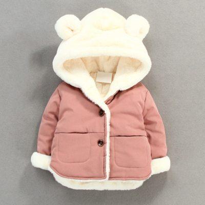 Autumn Winter Baby Fleece Soft Jacket Cartoon Hooded Plus Velvet Infant Boys Coat Newborn Baby Girls Outerwear Baby Snow Wear