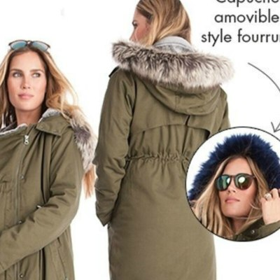 Maternity Coat Jacket kangaroo Outfit Spring Autumn Clothes Mother Fur Collar Outwear Pregnant woman Baby Carrier Hooded Coat