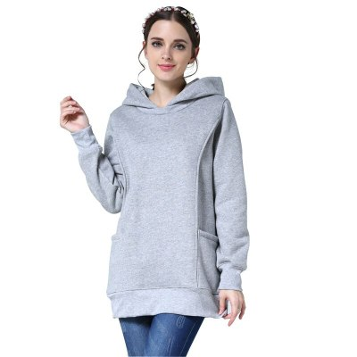 Winter Maternity Clothes Fleece Breastfeeding Hoodie Women Pregnant Jumper Pregnancy Clothing SweaterS-3XL