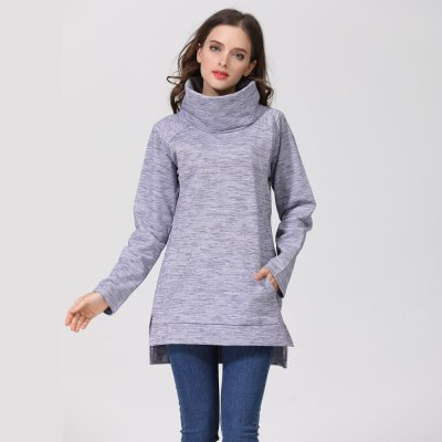 Winter Elegant Maternity Sweater Thermal Breastfeeding Coat Turtle Neck Nursing Jumpers Lactation Clothes