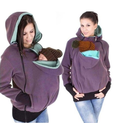 Hoodies Pregnancy Baby Carrier Jacket casaco for Moms Triple Multi-functional Mother Kangaroo Sweater Coat Female Sweatshirt