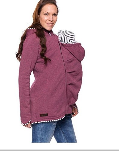 Cotton Women's Maternity Carrier Baby Holder Jacket Kangaroo Carrier Baby HolderJackets Hoodies Outwear Pregnancy Women Coat