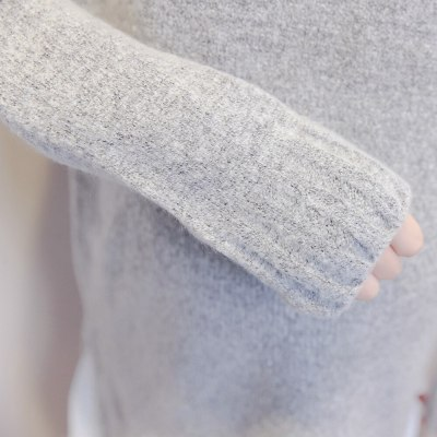 Pregnant Women Sweater Dress Patchwork Thick Winter Knitted Pullover Boat neck Casual Full Sleeve Knee-Length Maternity Cardigan