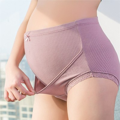 High waist pregnant women's underwear adjustable pregnant cotton intimates belly support women soft maternity panties antibiosis