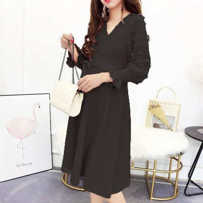 Pregnancy Knitting Dresses Pregnant Bottoming Shirts Long Sleeve Maternity Clothings Outwear clothes For Pregnant Women