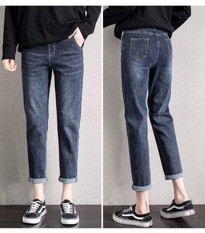 Maternity Jeans Spring Casual Little Harem Pants Loose Small Straight Ankle-length Pants Maternity Clothes Pregnant Clothes