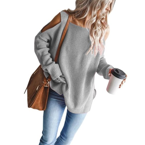 New O-neck Knitted Women Pullover Sweater Autumn Winter Puff Sleeve Female Sweater Solid Green White Ladies Leisure Jumper