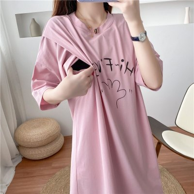 Print Women Dress Big Size Summer Cotton Breastfeeding Clothes pregnancy Dress