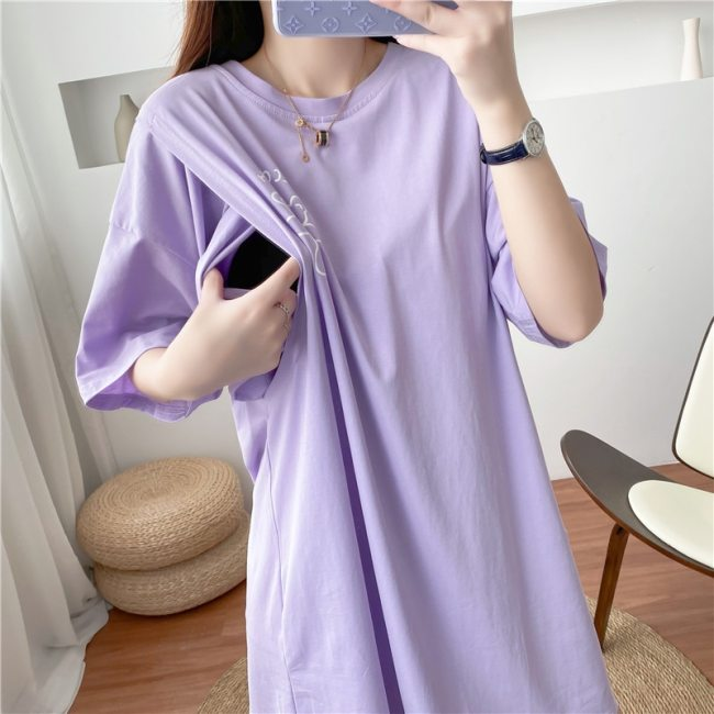 Maternity Dresses Summer Clothes For Plus Size Postnatal Nursing Mothers Direct Selling Maternity Clothes Pregnant Cothes