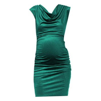 Nursing Dress Top Women Solid Color Breastfeeding Winter Dress for Feeding Maternity Pregnancy Clothes tight Dress