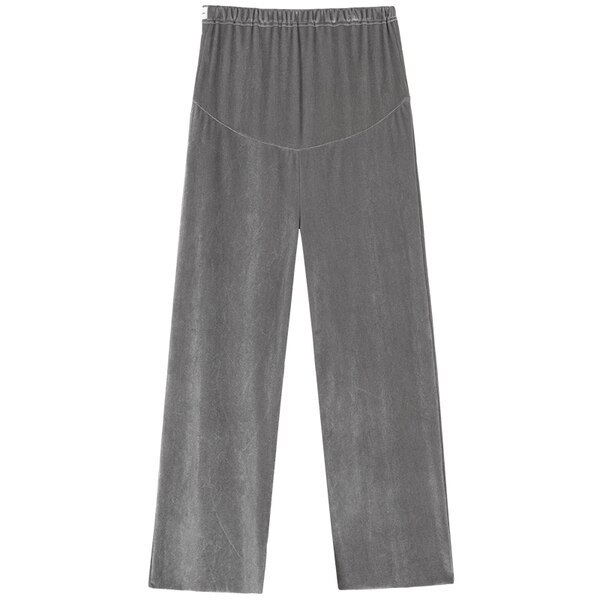 Maternity Autumn Style Pure Color Wide Leg High Waist Loose Pants