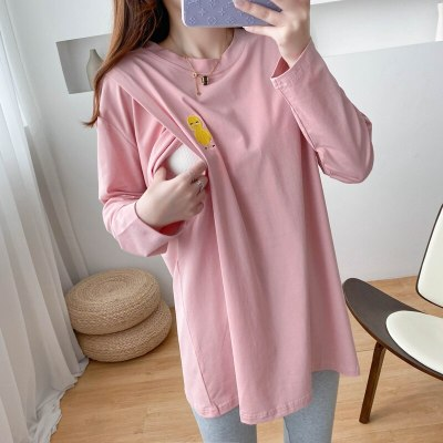 2020 New Hit Pregnant T shirt For Nursing Mothers Long Sleeve Spring And Autumn Breastfeeding Clothes