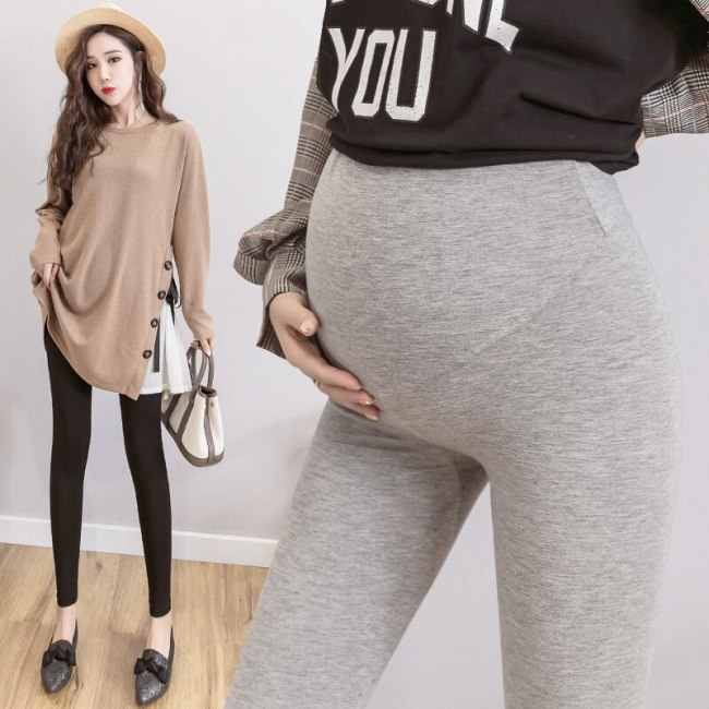 Pregnant Women Leggings Autumn Wear Knitting Cotton Abdominal Support Maternity Clothes Pregnant Clothes Ankle-length Pants