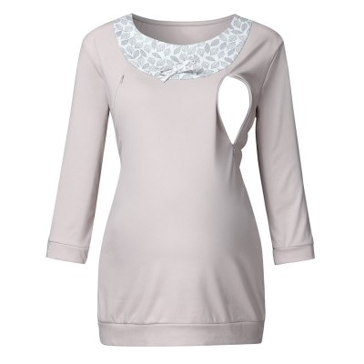 Nursing Tops Maternity Winter Clothes Long Sleeve T Shirt Breastfeeding Top Pregnancy Clothes Women Blouse Womens CLothing
