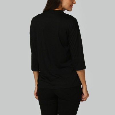 Women's Maternity Nursing Wrap Top 3/4 Sleeves Double Layer umstandsmode Blouse T Shirt
