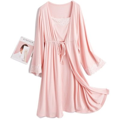 2Pcs/Set Pregnancy Maternity Pajamas Nursing Sleepwear Pajamas suit for Pregnant Breastfeeding Nightgown Maternity Nursing Dress