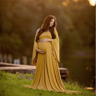 Maternity dress Womens Pregnants Sexy Photography Props Off Shoulders Lace Nursing Long maternity dresses for photo shoot