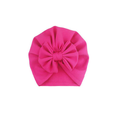 2020 Baby Stuff Accessories Baby Girl Hat With Bow Knot Infant Beanie Solid Big Bowknot Cap For Girls Kid Hats