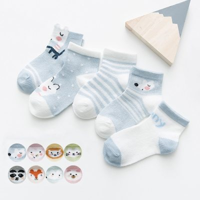 5Pairs/lot 0-2Y Infant Baby Socks Baby Socks for Girls Cotton Mesh Cute Newborn Boy Toddler Socks Baby Clothes Accessories