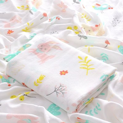 Double Bamboo Muslin Blanket Baby Wrap Swaddle Blanket Kids Baby Bath Towel Blankets Newborn Blanket Swaddle Cotton Bedding