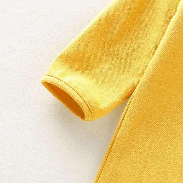 Newborn Infant  Solid Sleep Clothes Sleeping Bag Sleepwear Long Sleeve Solid Cotton Jumpsuit