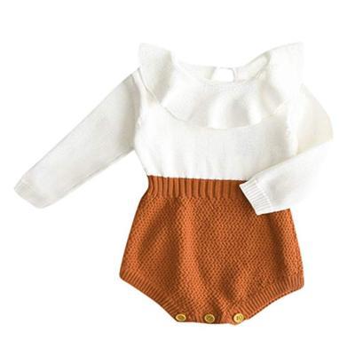Newborn Baby Girl Clothing Rompers Wool Knitting Tops Long Sleeve Romper