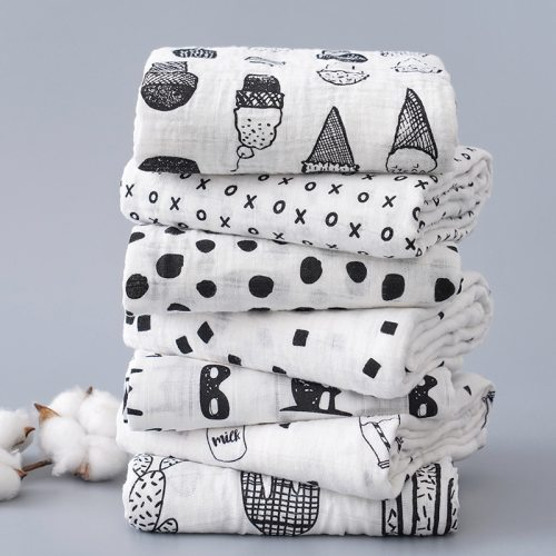Imebaby baby blanket bath towel 120 * 110cm cotton muslin newborn sw blanket bath towel wrapped blanket child bedding blanket