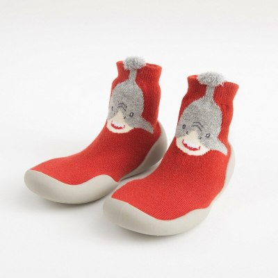 Toddler Indoor Sock Shoes Newborn Baby Socks Autumn Terry Cotton Baby Girl Sock with Rubber Soles Infant Animal Cat Funny Sock