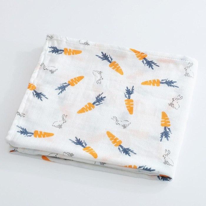 Imebaby baby blanket bath towel 120 * 110cm cotton muslin newborn sw blanket bath towel wrapped blanket child bedding blanket