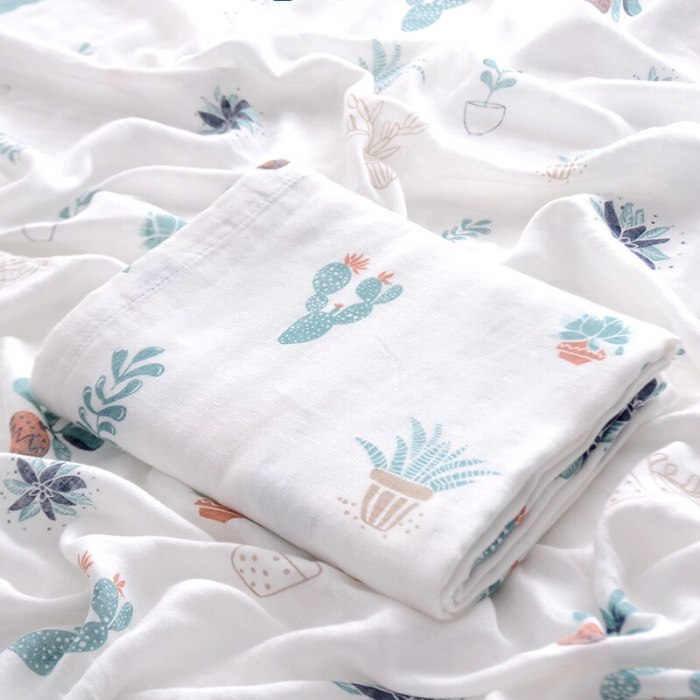 Double Bamboo Muslin Blanket Baby Wrap Swaddle Blanket Kids Baby Bath Towel Blankets Newborn Blanket Swaddle Cotton Bedding