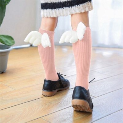 2020 Brand New Baby Toddler Infant Newborn Kid Cotton Warm Angel Lovely Wing Stockings Knee Tight 0-4Y