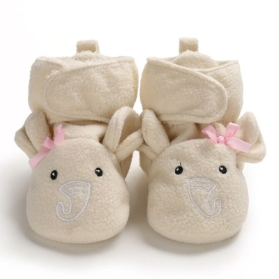 New Baby Shoes Socks Boy Girl Booties Winter Warm Animal Face Crawl Anti-slip Toddler Prewalkers Soft Infant Newborn Crib Shoes