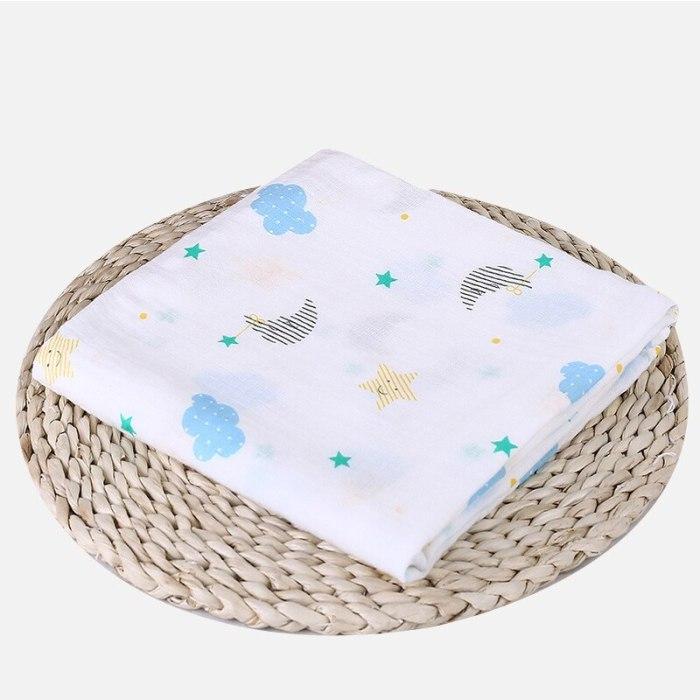 1pc 100% Cotton Newborn Swaddles Soft  Baby Boy Girls Blankets Bath Gauze Infant Wrap Sleepsack Stroller Cover Play Mat