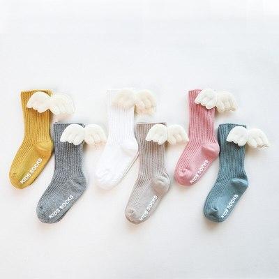 Cartoon Newborn Baby Socks Angel wing socks Baby Girl Boy Knee Socks Cotton Toddler Infant Girls Knee High Socks
