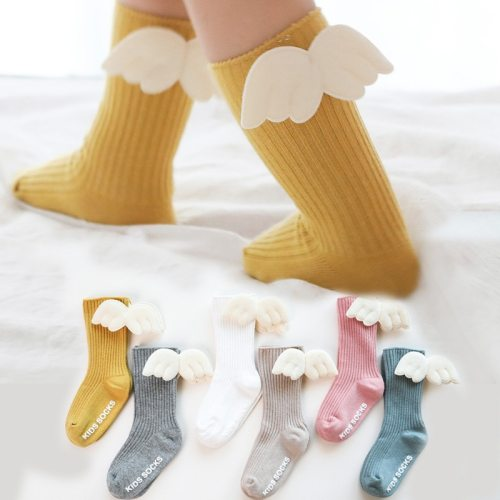 Cartoon Newborn Baby Socks Angel wing socks Baby Girl Boy Knee Socks Cotton Toddler Infant Girls Knee High Socks