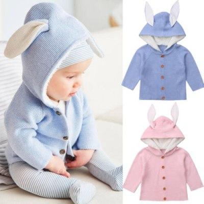 Citgeett Fashion Cute Autumn Newborn Toddler Kids Baby Girls Boy Clothes Knitted Solid Sweater Coat Outerwear