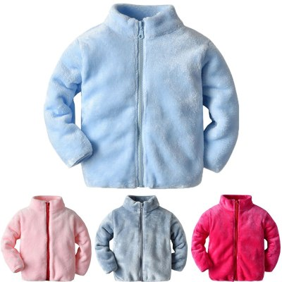Toddler Baby Girls Coat baby boy Fashion Long Sleeve Winter Solid Windproof Children jackets