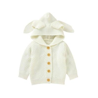 Newborn Infant Baby Girl Boy Winter Jacket Warm Coat Knit Outwear Hooded Sweater