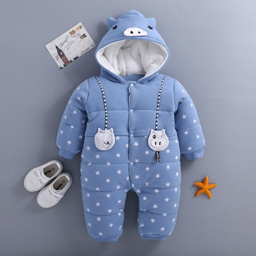 Newborn Winter Snowsuit Baby  Thick Cotton Warm  Cute Hooded Romper