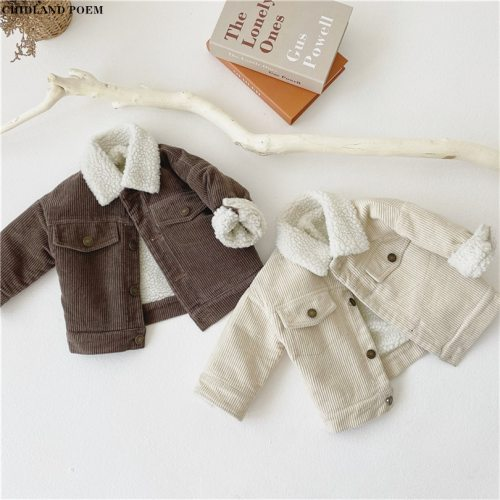 Kids Jacket For Boy Winter Lamb Wool Boys Jacket And Coat Kids Outerwear Boy Baby Girls Jacket Coat Toddler Boys Outerwear 1-4Y