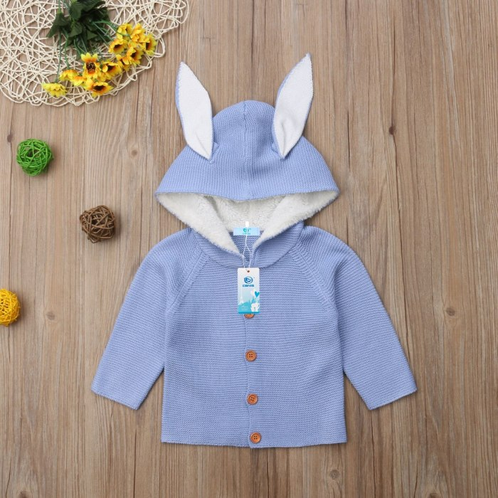 Fashion Cute Autumn Newborn Toddler Kids Baby Clothes Knitted Solid Sweater Outerwear