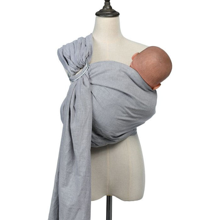 NEW 80% Line Fabric Breathable Baby Ring Sling Carrier Soft Baby Wrap For Newborns Best Shower Gift For Girls & Boys Baby Slings
