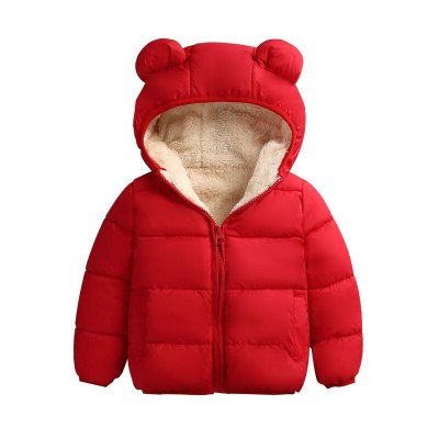 Baby Winter Jacket Coat Kids Casual Cute Ear Hooded Down Jacket Overalls Snow Warm Clothes For Children Toddler Boys Girls