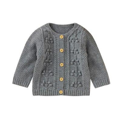 Autumn Newborn Infant Baby Winter Jacket Warm Button Coat Knit Outwear Sweater