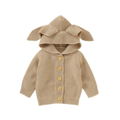 children's coat baby jacket Newborn Infant Baby Girl Boy Winter Jacket Warm Coat Knit Outwear Hooded Sweater